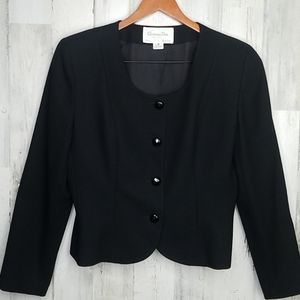 "Christian Dior ""The Suit"" black wool blazer"